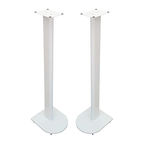 Fisual Dynami Uno Speaker Stands (Pair) (1000mm, Gloss White)
