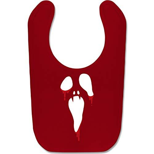 Shirtracer Anlässe Baby - Scream Halloween - Unisize - Rot - BZ12 - Baby Lätzchen Baumwolle (Aus Filmen Gruppe Halloween-kostüm-ideen)