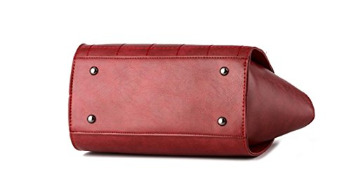 FZHLY 2017 New Car Sutura Buckle Messenger Bag Spalla Delle Donne,Red WineRed