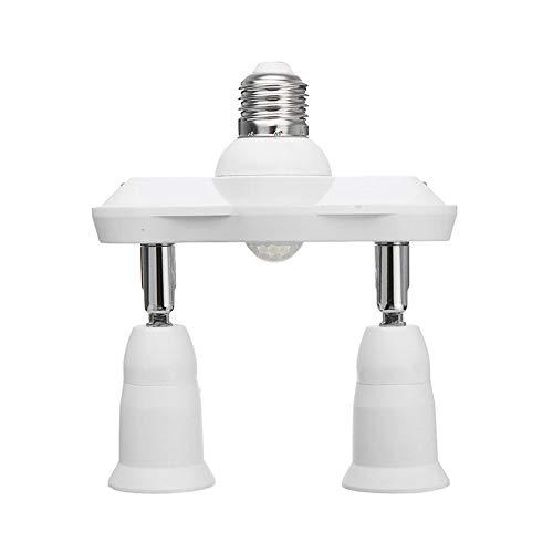 Bewegungsmelder Licht Sockel Adapter Konverter Basis, E27 Einstellbare Auto Ein/Aus Infrarot Bewegungsmelder Sockel Lampenfassung für Zuhause Keller Veranda Offic - E26 Standard Schraube Basis