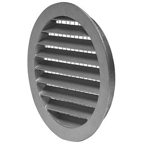 Galvanizado Metal Circular Tiempo Louvre–Rejilla de ventilación con mosquitera–125mm/12,7cm–SYS-125