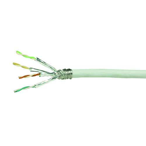 LogiLink Professional CPV0039 Netzwerk Verlegekabel Cat 6 S/FTP, weiß (6-ethernet-kabel 100 Meter Cat)