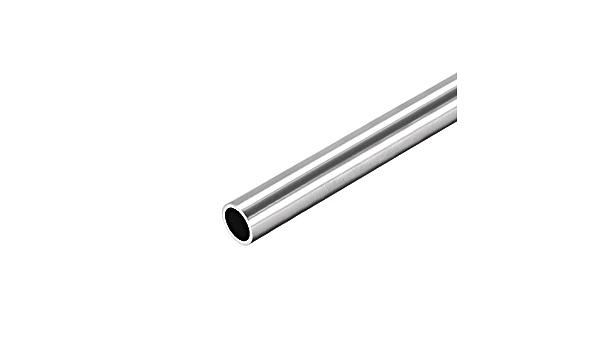sourcing map 304 tubo rotondo in acciaio inox 10mm OD 1mm parete spessore 250mm lunghezza tubo diritto senza cuciture