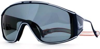 Carrera Color Azul y Blanco Azul y Blanco Shield Certificado Vintage Gafas de sol Para Hombre Y Mujer