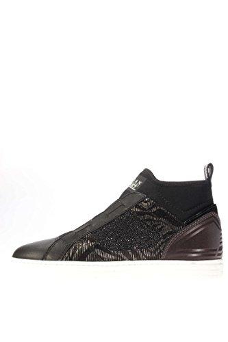 Hogan Rebel Donna Sneaker HXW1820V990ELV0564 Sneaker alta R182 eleastico Nero/piombo