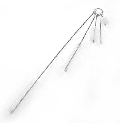 5 in 1 Fish Tank-Silber-Ton Twisted-Grip Pinselreiniger Clean Tool Set -