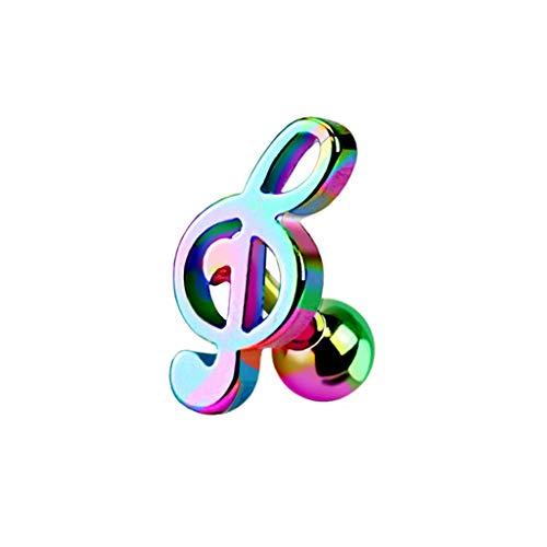 Paula & Fritz® Cartilage Piercing Straight Barbell Rings Tragus Notenschlüssel Edelstahl Chirurgenstahl 316L Silber schwarz gelbgold roségold bunt JA1015_W