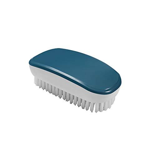 MA87 Schuhschrubber Reinigungspinsel Makaron Farbschema Waschwerkzeug Waschbürste, blau, 13x6x4cm - Friseur-starter-kit