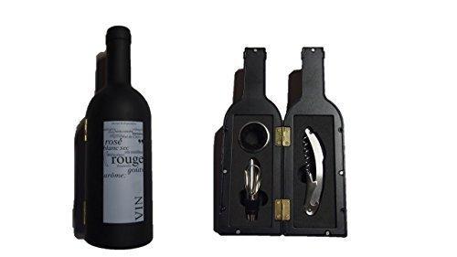 Bar Weinset 4 teilig bestehend aus Korkenzieher, Weinausgießer, Weinstopfen, Thermometer