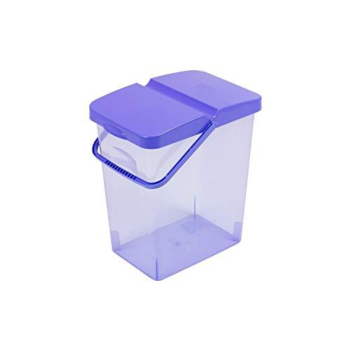 BranQ - Contenedor de alimento para tu perro o gato, 10 litros, disponible en diferentes colores. (azul)