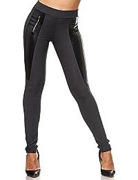 b13f11d383ea fashion boutik Pantalon Legging Tregging bi Matiere Simili Cuir Femme Sexy  Tendance