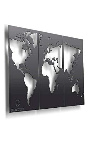 aus 2 mm Stahlblech ★ 3-teilig ★ 120 x 80 cm ★ Premium Qualität ★ Kunstdrucke und Leinwandbilder hat Jeder, Sie haben SteelTastic ()