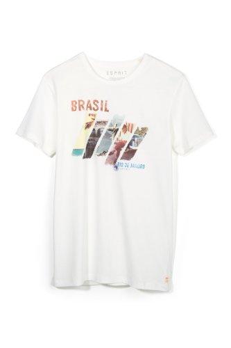 ESPRIT Herren T-Shirt 024ee2k015 Elfenbein - Beige