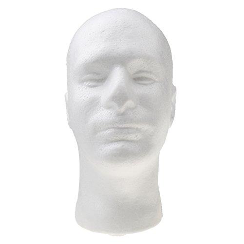 Preisvergleich Produktbild Almencla Herren Perückenkopf Dekokopf Styroporkopf Hutständer Brillen Schal Anzeige