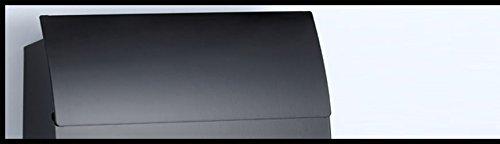 Designer Briefkasten Schwarz | Postkasten Mailbox Zeitung | Design mit satinierten Sichtfenstern. Inkl. Montagematerial & 2 Schlüssel! - 3