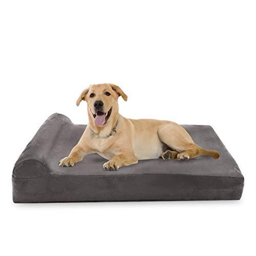 Big Dog Beds Hundebett, aus den USA hergestelltes Windelhöschen, 17,8 cm dick, therapeutisches orthopädisches Bett für große Hunde, mit integriertem Kissen, Extra Large 52