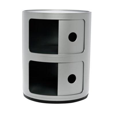Componibili Containermöbel 2 Elemente silber