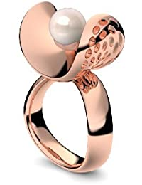 Golfschmuck Golf Schmuck Rotgold Ring Süßwasser Perle rosé 750 + inkl. Luxusetui + Süßwasser Perle rosé Ring Rotgold Perlenring Rotgold (Rotgold 750) - Pearl Symbiosis AM253 RG750PRPE