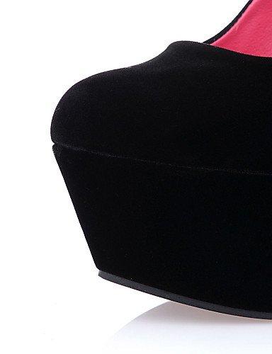 WSS 2016 Chaussures Femme-Habillé / Décontracté / Soirée & Evénement-Noir-Talon Compensé-Compensées / Talons / Bout Arrondi-Chaussures à Talons- black-us7.5 / eu38 / uk5.5 / cn38