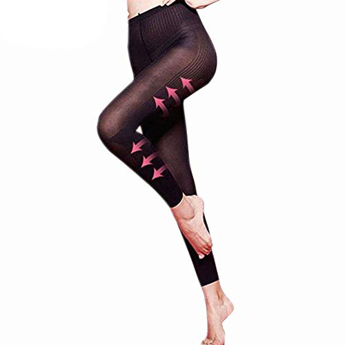 QHJ Leggings für Damen, Body Shaper Sculpting Sleep Leg Shaper, Hose Legging Socken Frauen Body Shaper Höschen (Schwarz, M) -