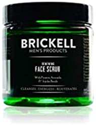 Brickell Men's Renewing Face Scrub for Men - Natural Exfoliating Facial Scrub - 2 oz