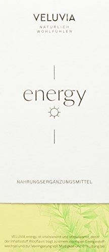 VELUVIA energy |zur Leistungssteigerung|Gegen Müdigkeit & Erschöpfung| Riboflavin, Vitamin B2, Vitamin B6, Vitamin B5, Eisen|Superfood| vegan|1 Monatspackung 30x2 Kapseln| Nahrungsergänzungsmittel