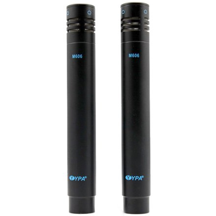 YPA M606 PAIR Stereo Pencil Condenser Vocal Instrument Microphones black+black