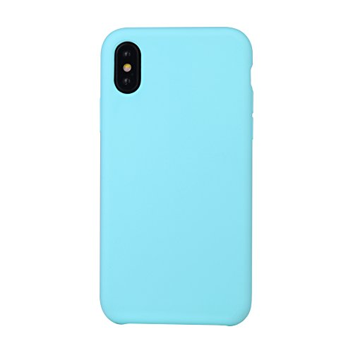 Coque Candy Xiu7 silicone pour iPhone X, design léger et ultrafin-Violet Bleu Atlantique