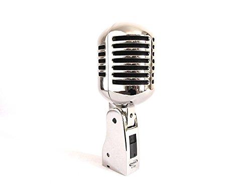 anen dynamisches Vintage Mikrofon aus Metall mit Chromveredelung ()