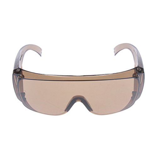 Almencla Schutzbrille Laboratorium Sicherheitsbrille Schutzglas Leichtgewicht Kratzfest Brille Klare Linse PPE Brille Amber