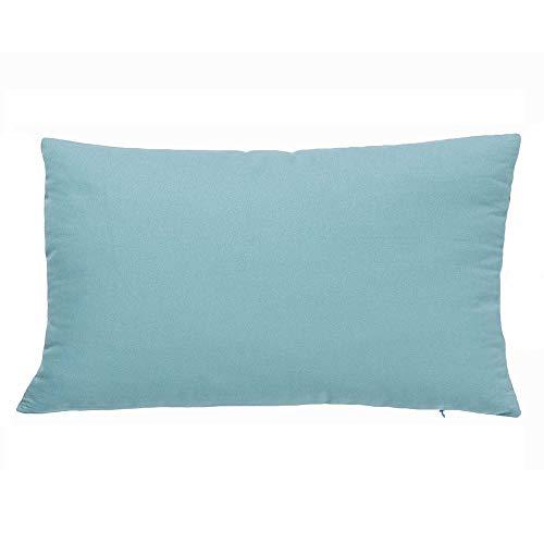 Liza line cuscino arredo, federa per decorare la casa - uni color - per camera da letto, soggiorno, letto, divano, auto - solo fodera (50x30cm - verde menta)