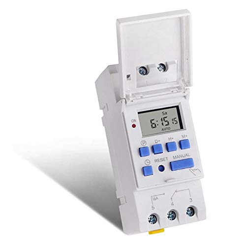 SINOTIMER AC 220V Interruttore orario programmabile settimanale settimanale 7 giorni Controllo relè Relay su guida DIN per apparecchi elettrici
