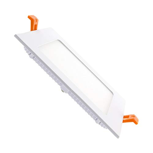 Placa LED Cuadrada SuperSlim 9W Downlight LED Blanco Neutro 4000K-4500K efectoLED