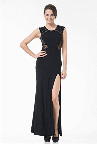 Bodenlanges Abendkleid Ballkleid Sommerkleid Bella mit Beinschlitz rot Gr. L/XL