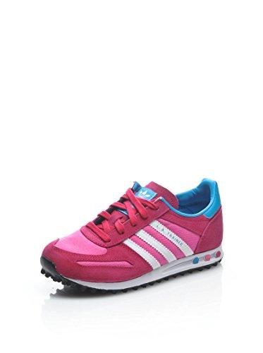 Adidas La Trainer Scarpe da Ginnastica, Bambini rosa e bianca
