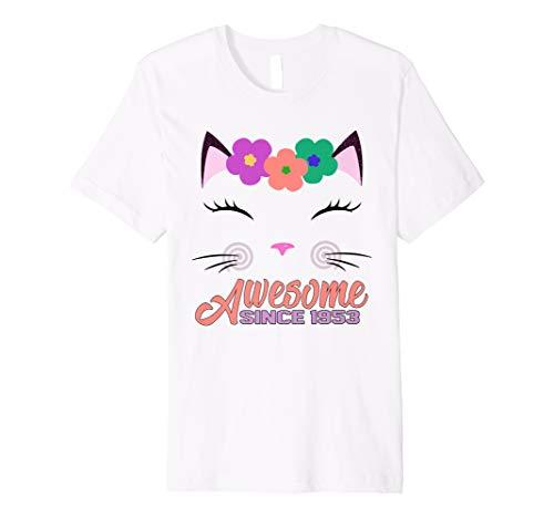 65 Geburtstag Geschenke Awesome Seit 1953 Shirt Fur Cat Lover