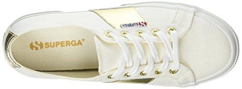 Superga 2750 Cotcotmetw, Sneaker Donna White (White Gold)