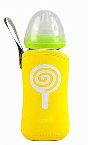 haltbarer Babyflasche Deading Flaschenwärmer, Fallschutz, gelb