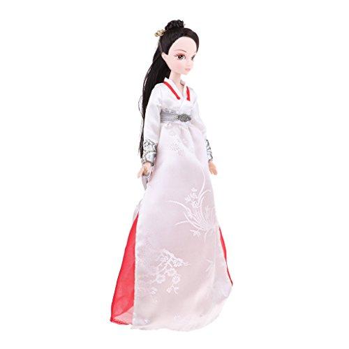D DOLITY Schönes Flexibles Vinyl Weibliche Puppe Spielzeug - Frau Puppe in Chinesisches Alte Zeit Kleidung Kostüm Set - (Aktion Frau Kostüm)