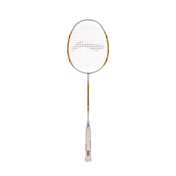 Li-Ning G-Force Lite 3600 Badminton Racquet (Strung), S2 Grip Size, (White/Gold)