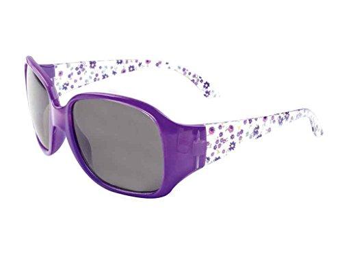 bb klostermann Sonnenbrille für Mädchen und Jungen,versch.Dessins f.6-12Jahre UV400 Kat.3 (lila blumen)