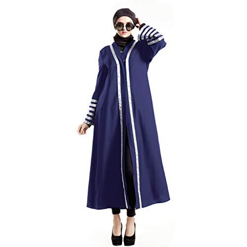 Sannysis Kimono Robe Damen Cardigan Sommer Muslimischer Kleider Feenhaftes üBernatüRliches Moslemisches Kleid Mit Federn Versehenes Chiffonkleid Nationales Kleid Vintage Kostüm ()