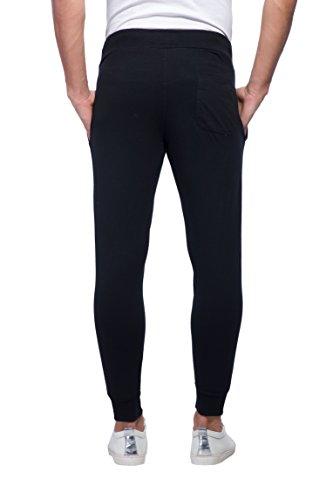 Alan Jones Clothing Sports Trim Slim Fit Cotton Joggers (Jog-Trim-M_Medium_Black)