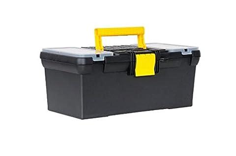 """Stanley Werkzeugbox / Werkzeugkoffer Classic Line (16"""", 39x22x16cm, Koffer mit Organizer für Kleinteile, Trage ist herausnehmbar, Box mit Kunststoffschließen und Öse für Vorhängeschloss) 1-93-335"""