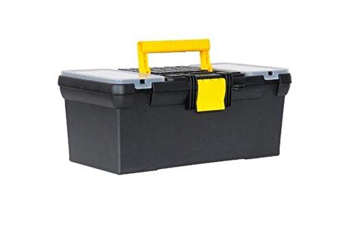 Stanley Werkzeugbox Classic Line mit Organizer, 39.4 x 22.2 x 16.2 cm, Kunststoff-Schließe, Vorhängeschloss-Öse 1-93-335
