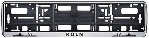 Auto Kennzeichenhalter Kennzeichenhalterung Skyline Köln Stadt City 2 Stück