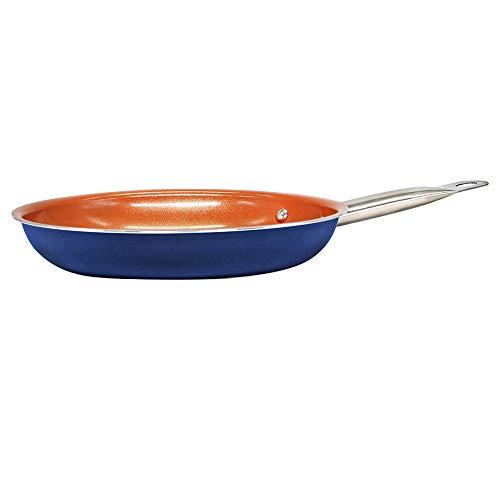 SIMPLE & Co 11 Pezzi di pentole in Rame di Colore Blu, Compresa la Padella Antiaderente con Rivestimento in Ceramica Compatibile - 6