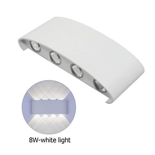 6w / 8w impermeabile applique da esterno in alluminio led moderna lampada da parete per la casa bagno scale camera da letto comodino luce