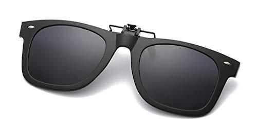 9fb650784c Flydo Polarizadas Clip en Gafas de Sol Marco Plástico con clip  Unisex-Elegantes y cómodos Clips Gafas de sol miopes para  exterior/conducción/pesca