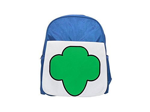185e1bd8bd5a girl scout trifoil with outline printed kid s blue backpack